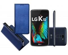 Re-Grid magnetinis dėklas LG K10 mobiliesiems telefonams mėlynos spalvos
