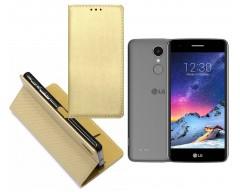 Re-Grid magnetinis dėklas LG K8 (2017) mobiliesiems telefonams aukso spalvos