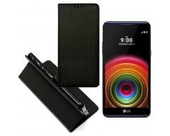 Re-Grid magnetinis dėklas LG X Power mobiliesiems telefonams juodos spalvos