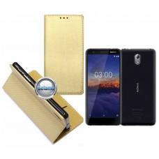 Re-Grid magnetinis dėklas Nokia 3.1 telefonams aukso spalvos Šiauliai | Telšiai | Palanga