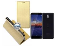 Re-Grid magnetinis dėklas Nokia 3.1 telefonams aukso spalvos