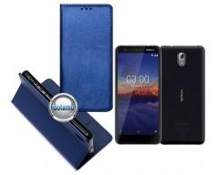 Re-Grid magnetinis dėklas Nokia 3.1 telefonams mėlynos spalvos