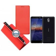 Re-Grid magnetinis dėklas Nokia 3.1 telefonams raudonos spalvos