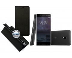 Re-Grid magnetinis dėklas Nokia 6 mobiliesiems telefonams juodos spalvos