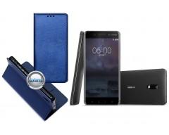 Re-Grid magnetinis dėklas Nokia 6 mobiliesiems telefonams mėlynos spalvos