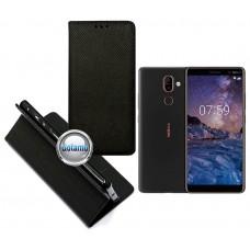 Re-Grid magnetinis dėklas Nokia 7 Plus telefonams juodos spalvos