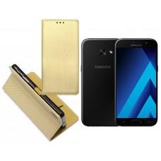 Re-Grid magnetinis dėklas Samsung Galaxy A3 (2017) mobiliesiems telefonams aukso spalvos