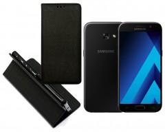 Re-Grid magnetinis dėklas Samsung Galaxy A3 (2017) mobiliesiems telefonams juodos spalvos