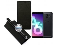 Re-Grid magnetinis dėklas Samsung Galaxy A6+ (2018) mobiliesiems telefonams juodos spalvos