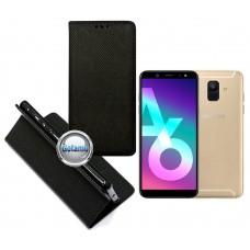 Re-Grid magnetinis dėklas Samsung Galaxy A6 (2018) mobiliesiems telefonams juodos spalvos