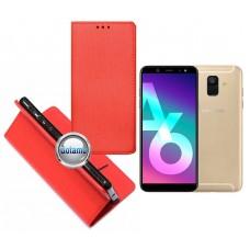 Re-Grid magnetinis dėklas Samsung Galaxy A6 (2018) mobiliesiems telefonams raudonos spalvos Palanga | Vilnius | Telšiai