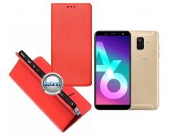 Re-Grid magnetinis dėklas Samsung Galaxy A6 (2018) mobiliesiems telefonams raudonos spalvos