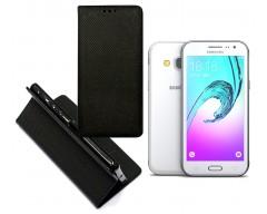 Re-Grid magnetinis dėklas Samsung Galaxy J3 (2016) mobiliesiems telefonams juodos spalvos