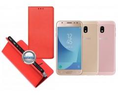 Re-Grid magnetinis dėklas Samsung Galaxy J3 (2017) telefonams raudonos spalvos