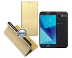 Re-Grid magnetinis dėklas Samsung Galaxy J3 Prime J3 Emerge mobiliesiems telefonams aukso spalvos