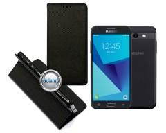 Re-Grid magnetinis dėklas Samsung Galaxy J3 Prime J3 Emerge mobiliesiems telefonams juodos spalvos