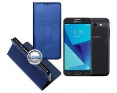 Re-Grid magnetinis dėklas Samsung Galaxy J3 Prime J3 Emerge mobiliesiems telefonams mėlynos spalvos