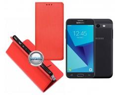 Re-Grid magnetinis dėklas Samsung Galaxy J3 Prime J3 Emerge mobiliesiems telefonams raudonos spalvos