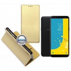 Re-Grid magnetinis dėklas Samsung Galaxy J6 (2018) telefonams aukso spalvos