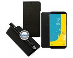 Re-Grid magnetinis dėklas Samsung Galaxy J6 (2018) telefonams juodos spalvos