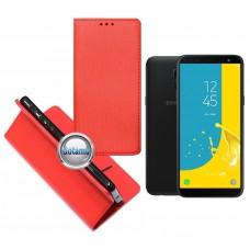 Re-Grid magnetinis dėklas Samsung Galaxy J6 (2018) telefonams raudonos spalvos Kaunas   Palanga   Šiauliai