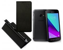 Re-Grid magnetinis dėklas Samsung Galaxy Xcover 4 mobiliesiems telefonams juodos spalvos