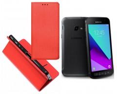 Re-Grid magnetinis dėklas Samsung Galaxy Xcover 4 mobiliesiems telefonams raudonos spalvos