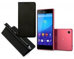 Re-Grid magnetinis dėklas Sony Xperia M4 Aqua mobiliesiems telefonams juodos spalvos