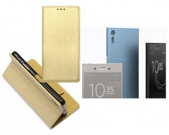 Re-Grid magnetinis dėklas Sony Xperia XZ, Sony Xperia XZs mobiliesiems telefonams aukso spalvos
