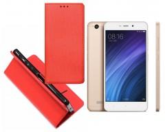 Re-Grid magnetinis dėklas Xiaomi Redmi 4A mobiliesiems telefonams raudonos spalvos
