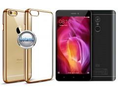 ReColor dėklas nugarėlė Xiaomi Redmi Note 4, Xiaomi Redmi Note 4X telefonams aukso spalvos