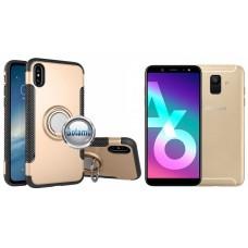 Ring Case dėklai nugarėlės Samsung Galaxy A6 (2018) mobiliesiems telefonams aukso spalvos