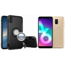 Ring Case dėklai nugarėlės Samsung Galaxy A6 (2018) mobiliesiems telefonams juodos spalvos Šiauliai | Vilnius | Plungė