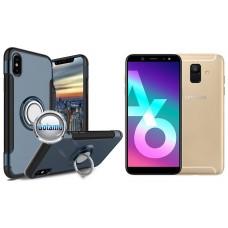 Ring Case dėklai nugarėlės Samsung Galaxy A6 (2018) mobiliesiems telefonams mėlynos spalvos