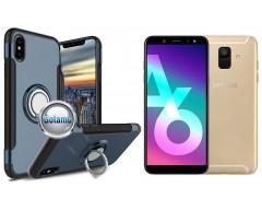 Ring Case dėklai nugarėlės Samsung Galaxy A6+ (2018) mobiliesiems telefonams mėlynos spalvos