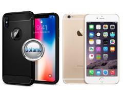Siege dėklas nugarėlė Apple iPhone 6 6s mobiliesiems telefonams juodos spalvos