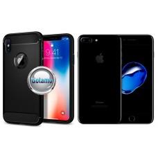 Siege dėklas nugarėlė Apple iPhone 7 Plus 8 Plus mobiliesiems telefonams juodos spalvos