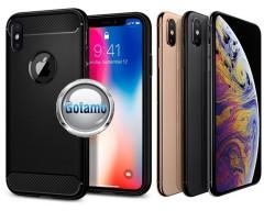 Siege dėklas nugarėlė Apple iPhone X Xs mobiliesiems telefonams juodos spalvos