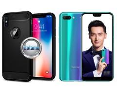 Siege dėklas nugarėlė Huawei Honor 10 mobiliesiems telefonams juodos spalvos