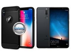 Siege dėklas nugarėlė Huawei Mate 10 Lite mobiliesiems telefonams juodos spalvos
