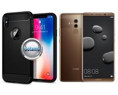Siege dėklas nugarėlė Huawei Mate 10 Pro mobiliesiems telefonams juodos spalvos