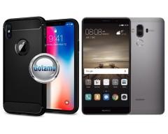 Siege dėklas nugarėlė Huawei Mate 9 mobiliesiems telefonams juodos spalvos