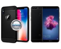 Siege dėklas nugarėlė Huawei P Smart mobiliesiems telefonams juodos spalvos
