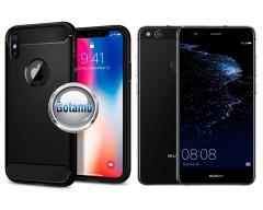 Siege dėklas nugarėlė Huawei P10 Lite mobiliesiems telefonams juodos spalvos