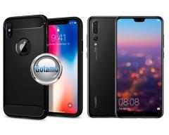 Siege dėklas nugarėlė Huawei P20 Pro mobiliesiems telefonams juodos spalvos