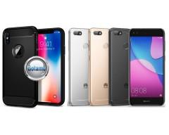 Siege dėklas nugarėlė Huawei P9 Lite mini mobiliesiems telefonams juodos spalvos