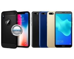 Siege dėklas nugarėlė Huawei Y5 (2018) Huawei Honor 7S mobiliesiems telefonams juodos spalvos