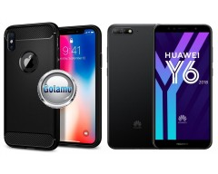 Siege dėklas nugarėlė Huawei Y6 (2018) Huawei Honor 7A mobiliesiems telefonams juodos spalvos