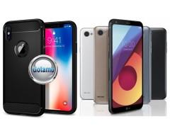 Siege dėklas nugarėlė LG Q6 mobiliesiems telefonams juodos spalvos