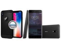 Siege dėklas nugarėlė Nokia 6 mobiliesiems telefonams juodos spalvos